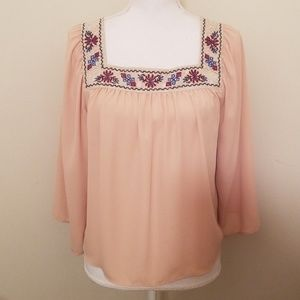 Tops - Blouse batwing sleeves Blush color szM